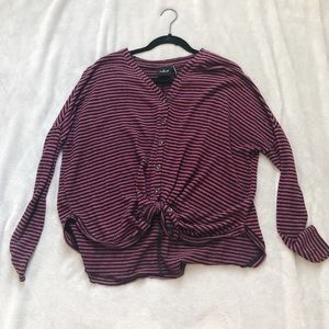 Urban Outfitters long sleeve knotted shirt